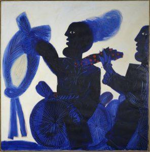 le cycliste bleu