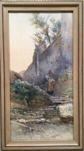 Gefäßträgerin in einer südländischen Ruine