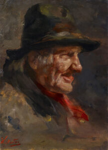 Portrait of a Man with Hat and Red Kerchief